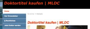 Screenshot http://www.doktortitel-kaufen.net/index.html vom 17.05.2012, 01:44 Uhr