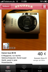 Stuffle-Angebot Digitalkamera