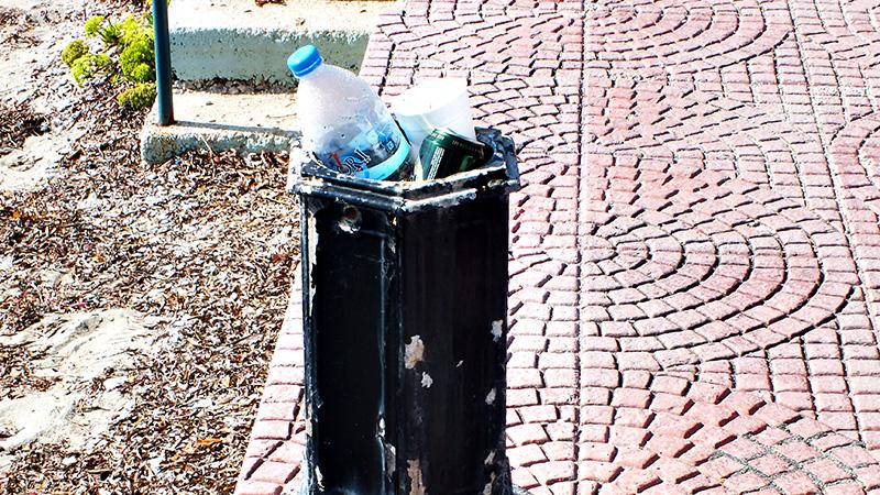 Unter anderem alles, was eine Öffnung hat, wird als Mülleimer verwendet