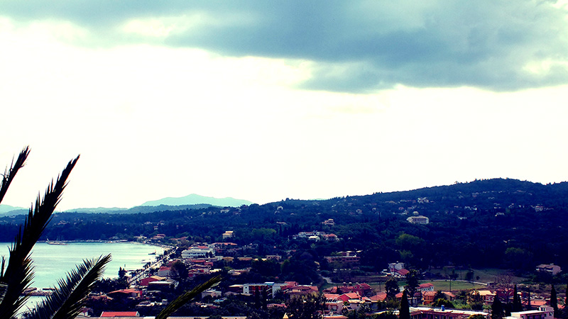 Blick vom Hotelzimmerbalkon auf die Stadt