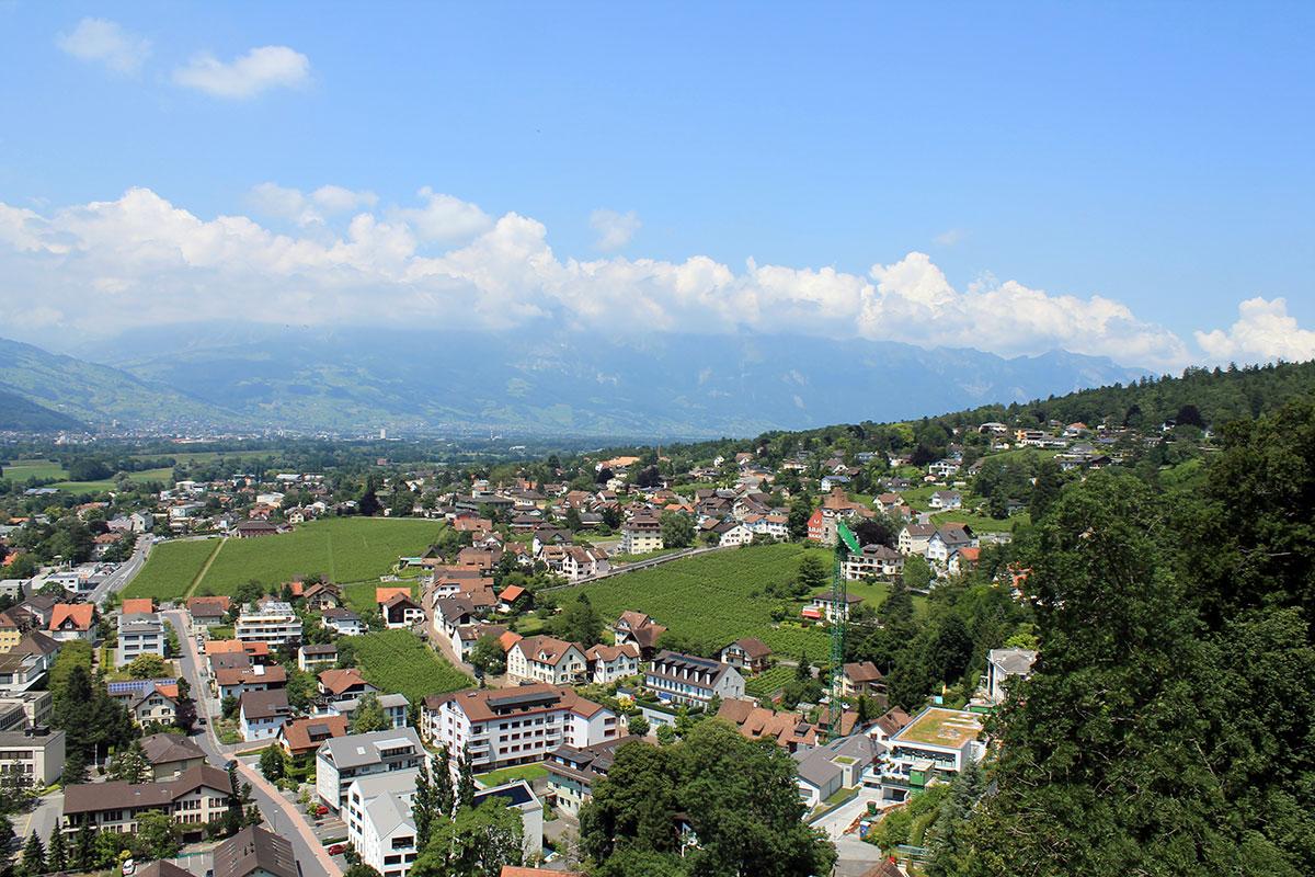 Blick auf Liechtenstein