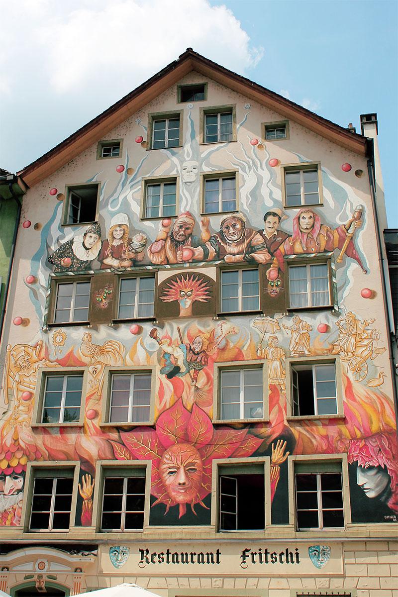 Bemaltes Haus in Luzern