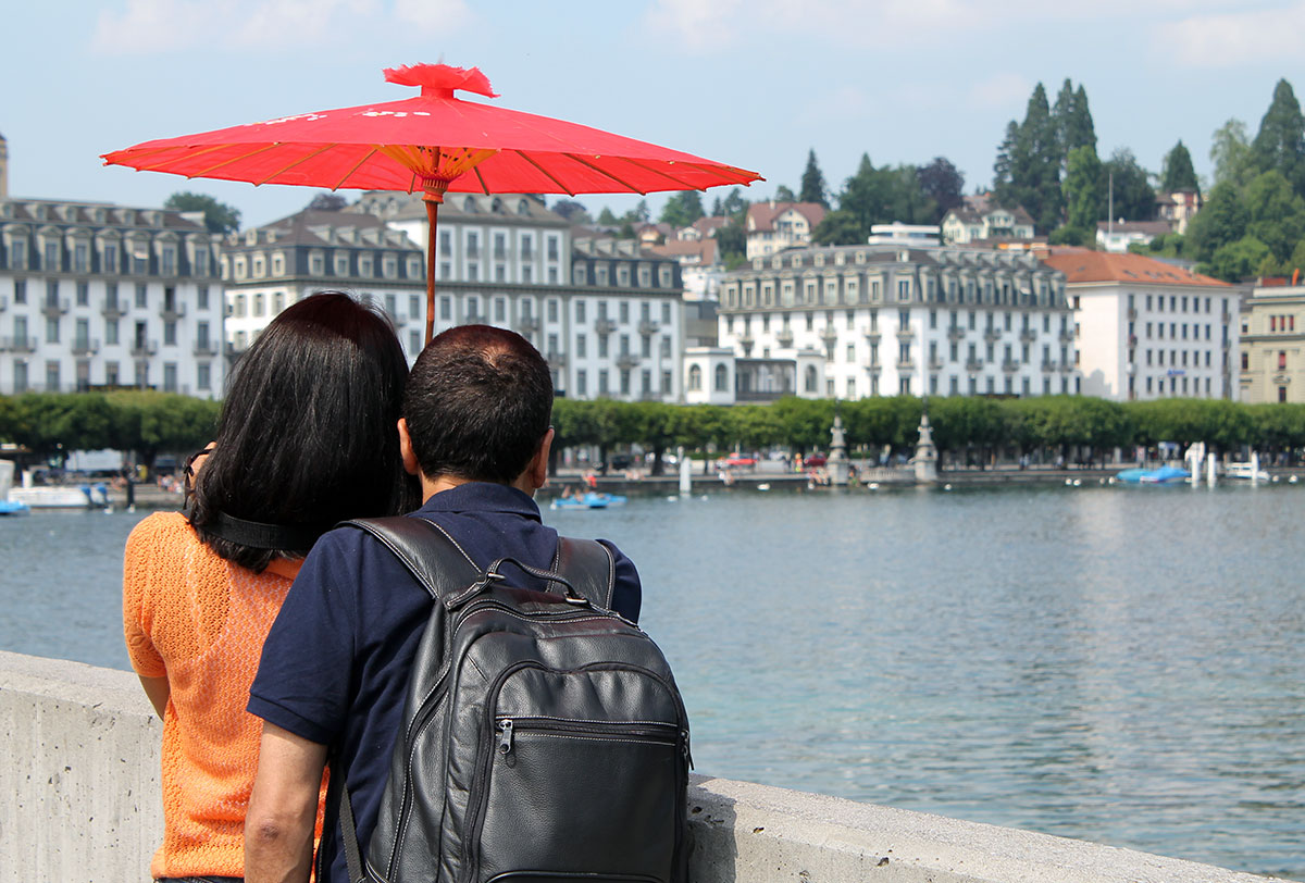 Touristen in Luzern