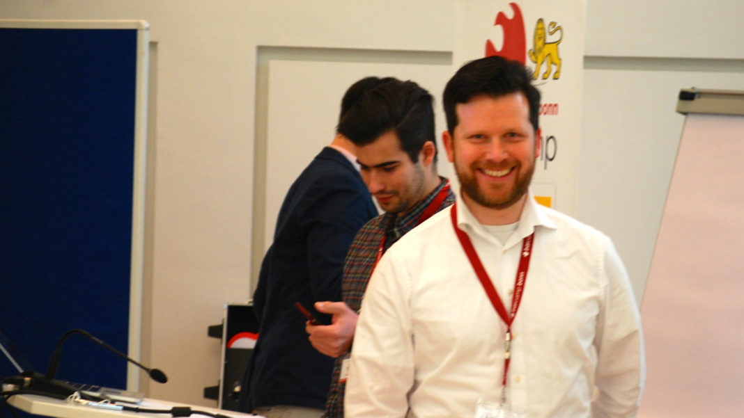 Der Johannes beim BarCamp