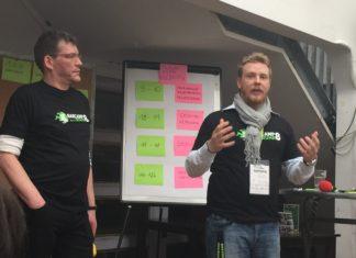 Die #bcruhr8-Organisatoren Maik und Berthold