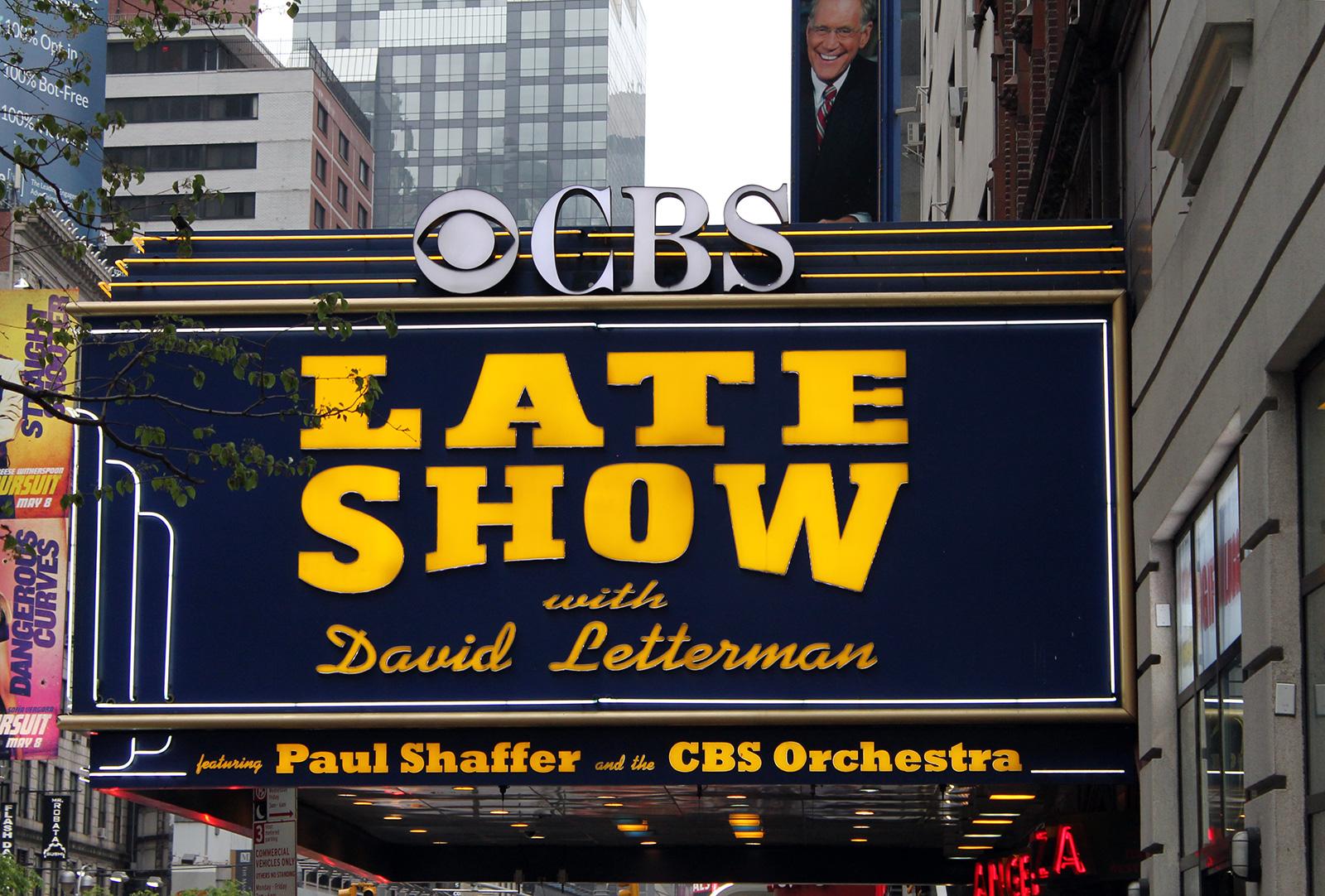 Vor der Late Show von David Letterman