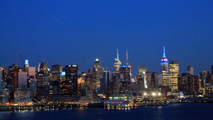 Skyline von New York von New Jersey aus