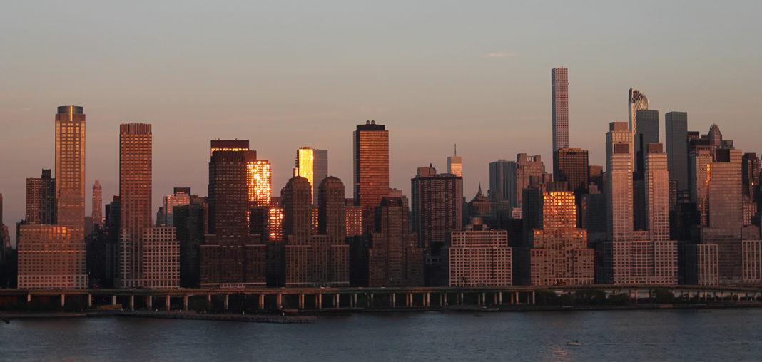 Skyline New York von New Jersey aus