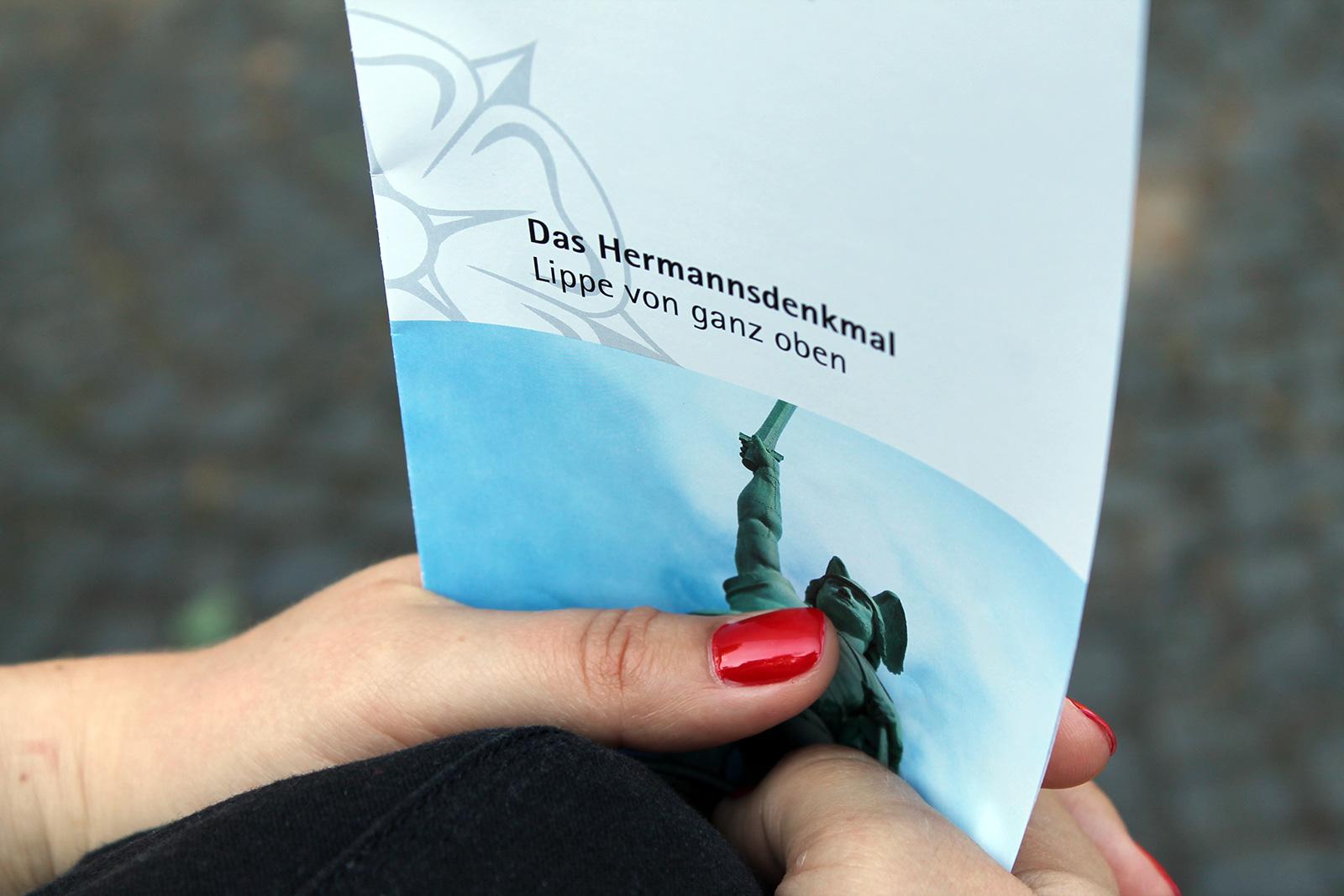 Flyer für das Hermannsdenkmal