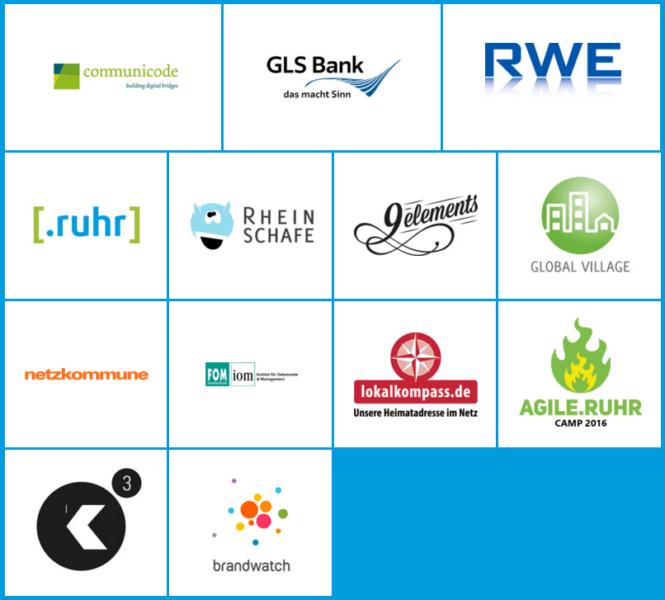 Sponsoren des BarCamp Ruhr 9