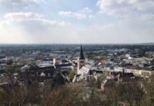 Blick über Siegburg vom KSI aus