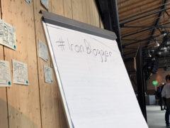 Ein Flipchart, auf dem steht: #IronBlogger