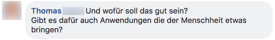 Ein Screenshot von Facebook.
