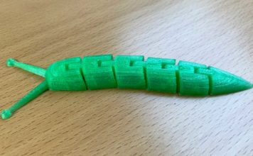 Eine grüne 3D-Schnecke