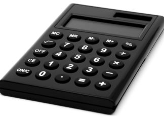 Ein einfacher Taschenrechner.