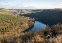 Ein Flusstal in Wertheim
